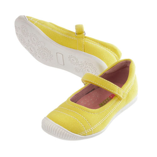 Ellie Girls Canvas Maryjanes -  Yellow