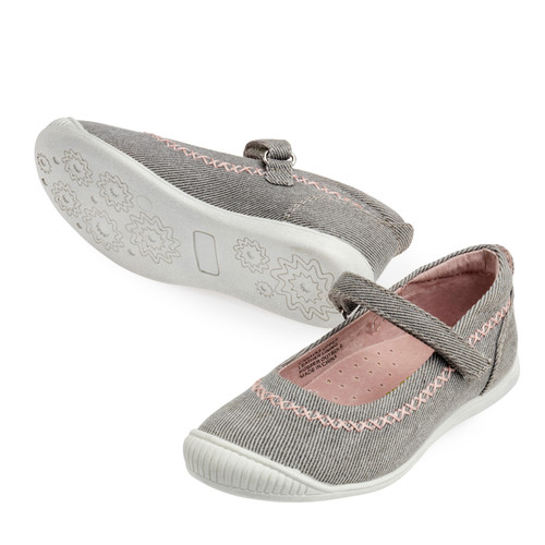 Julie Girls Canvas Maryjane - Silver