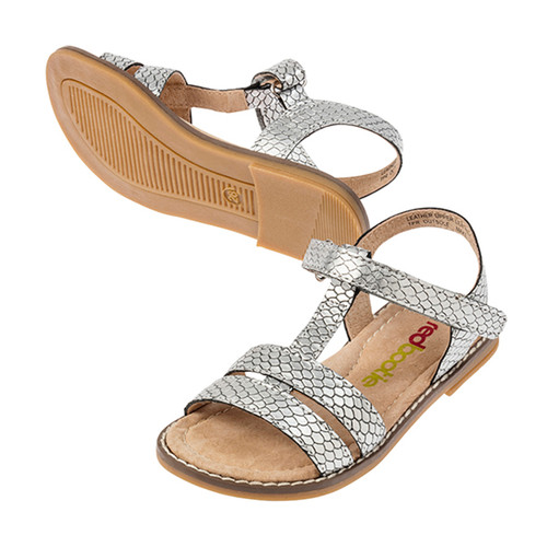 Verity Girls Lather Sandal - Silver