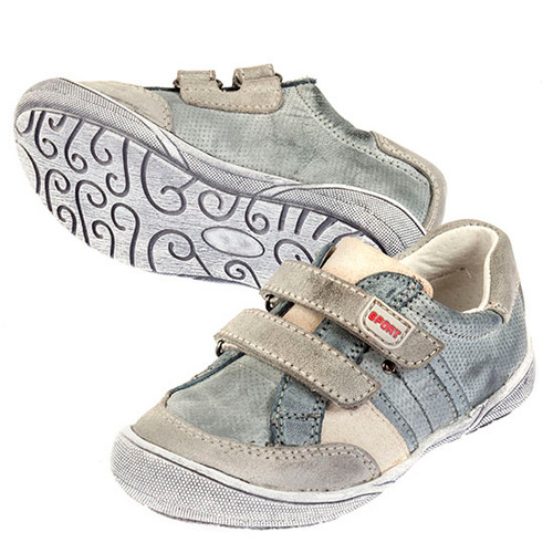 Ali Boys leather Casual  leather Shoe  - Grey