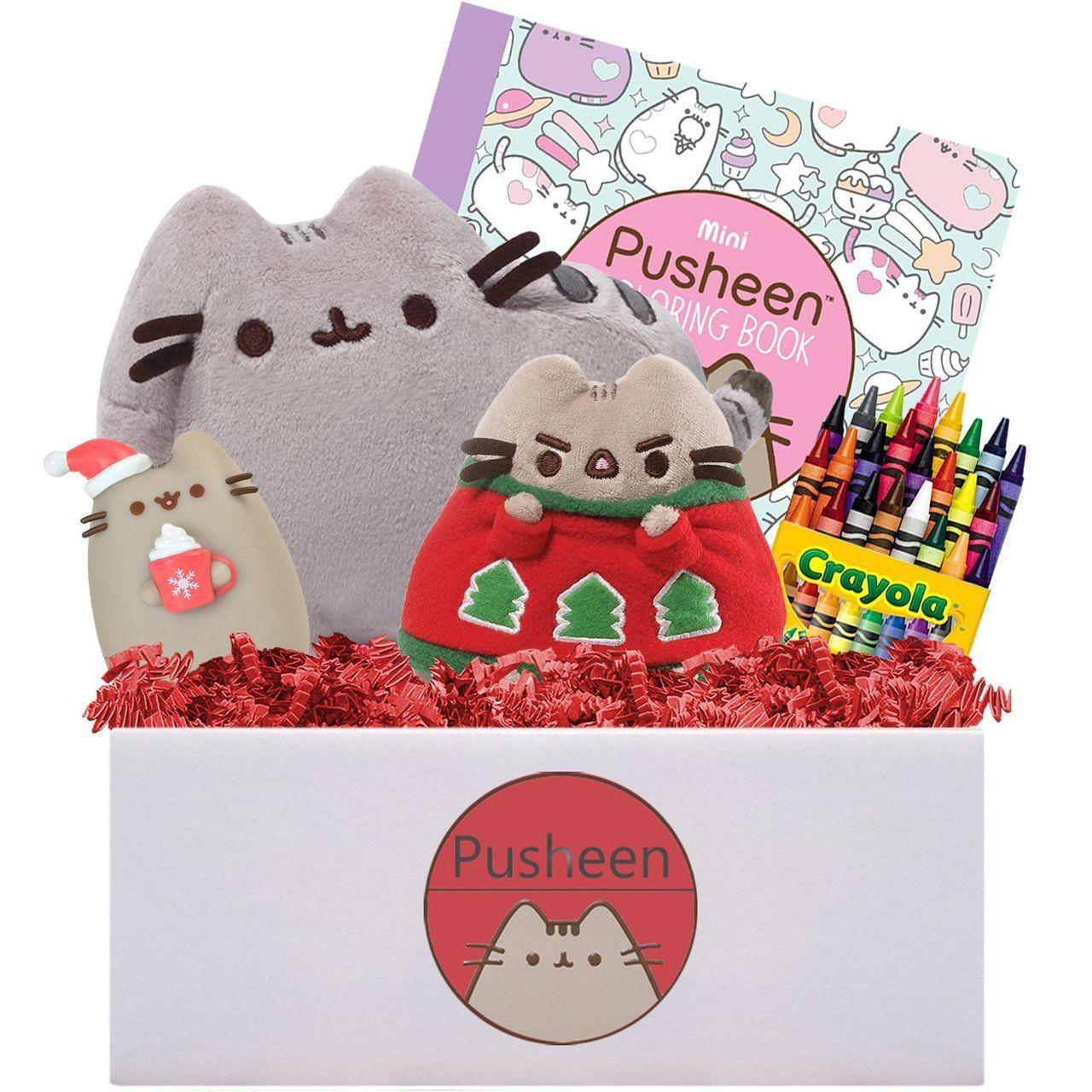 GUND PUSHEEN Christmas Gift Box, 10 inches - Bluebasilgifts.com
