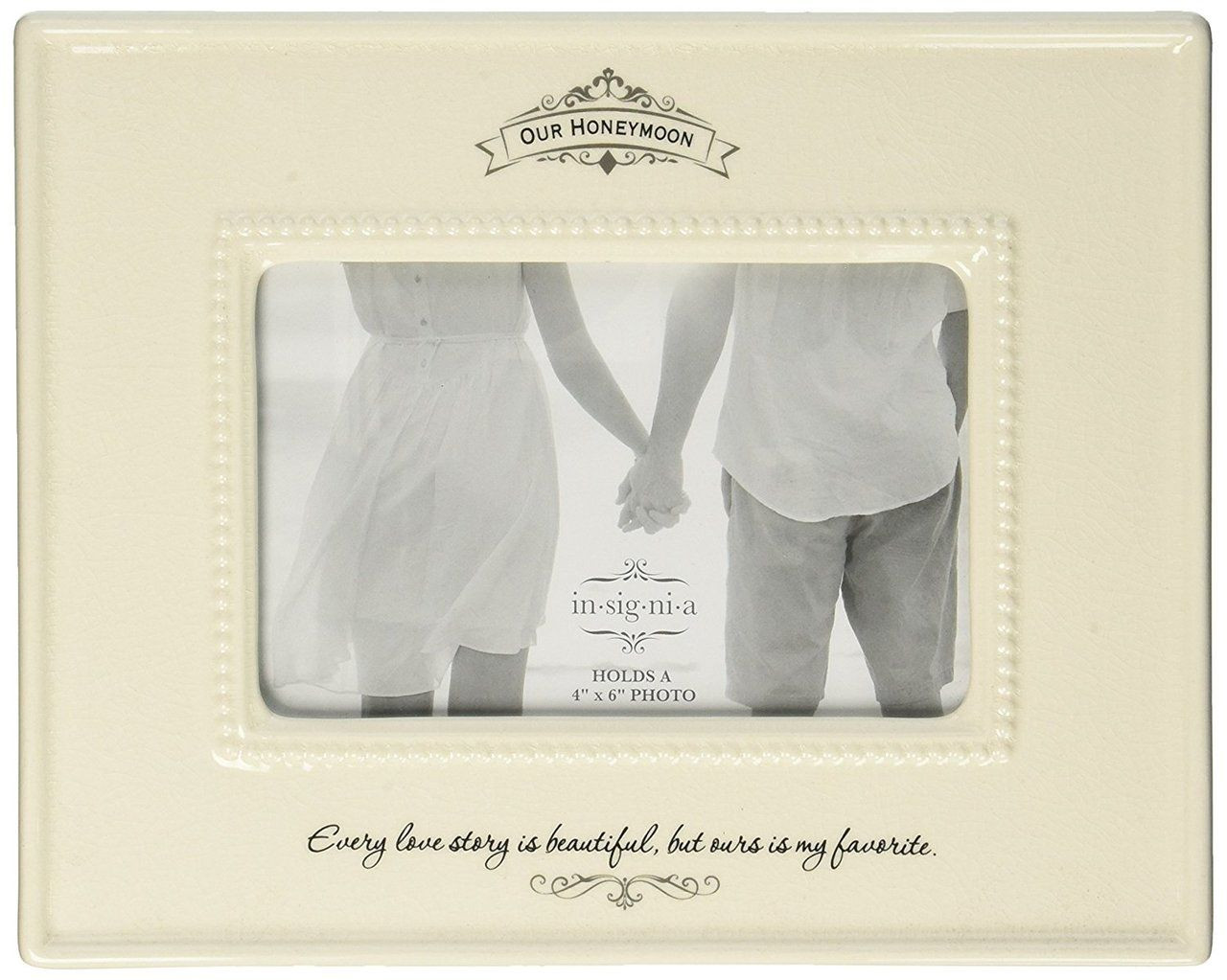 Insignia Honeymoon Photo Frame, 7.6 inches, Ivory - Bluebasilgifts.com