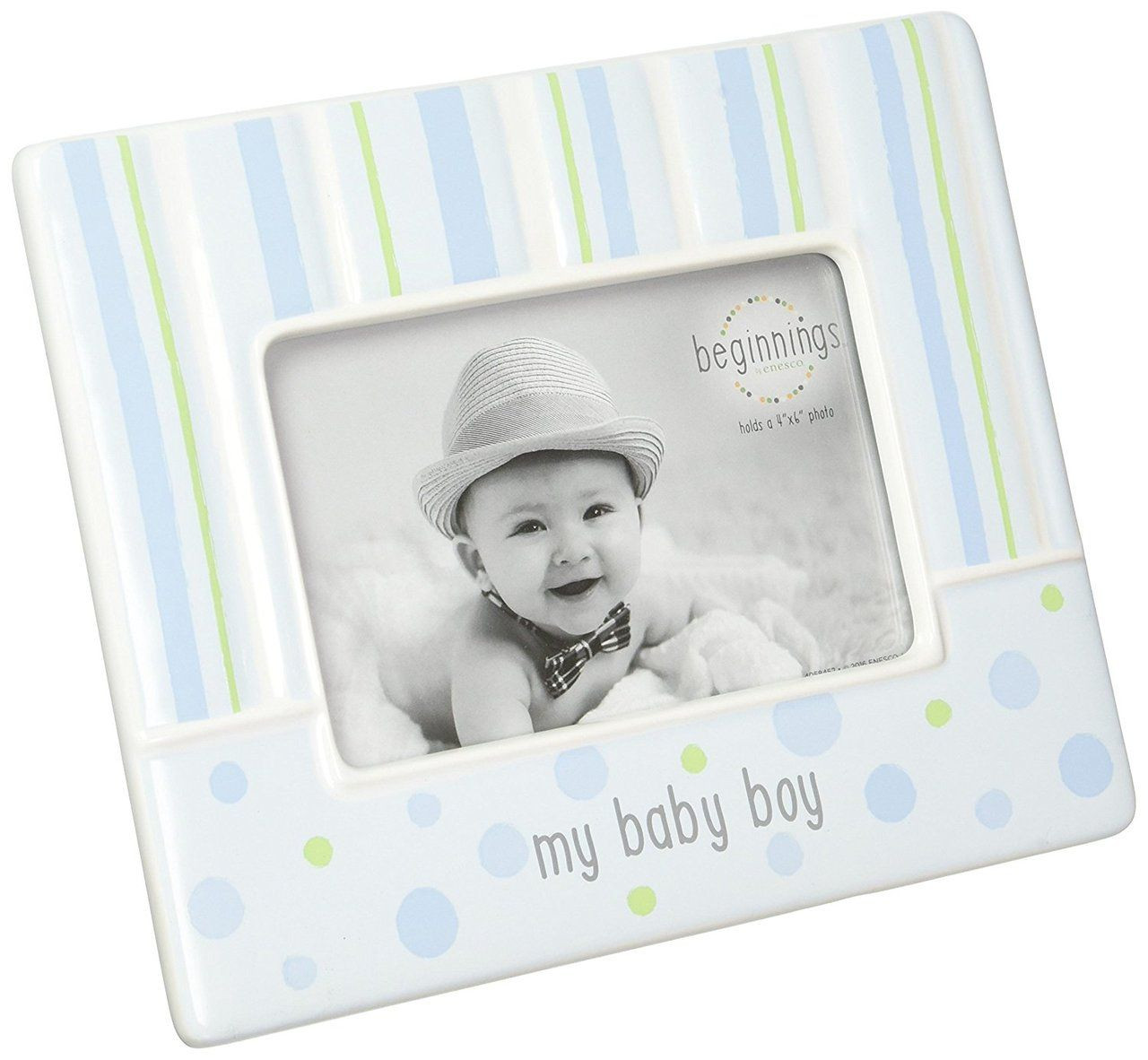 Beginnings by Enesco My Baby Boy Photo Frame, Blue - Bluebasilgifts.com