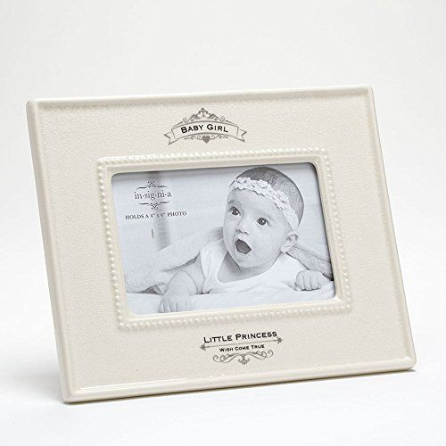 Insignia Little Princess Baby Girl Photo Frame, 9.5 inches, Ivory ...