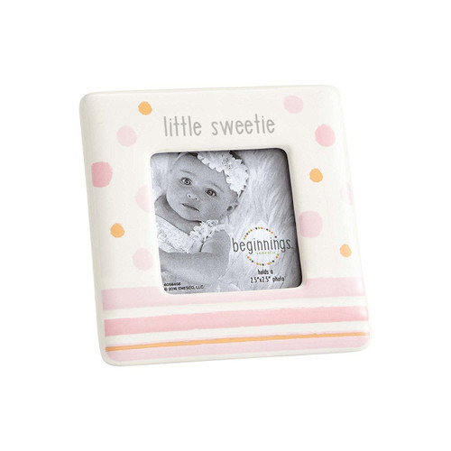 Beginnings by Enesco Little Sweetie Baby Girl Photo Frame, Pink and ...