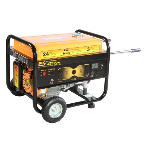 DEK 4550 Running Watt Portable Generator, 6000 Surge/Peak Watt Commercial Grade  - New--ALL SALES FINAL--NO REFUNDS OR RETURNS
