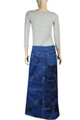 elastic waist denim skirt