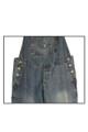 Coin Pocket Womens Ladies Blue Denim Jeans Long Dungarees Comfort Fit