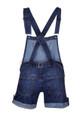 Clove Womens Stretch Short Dungarees Soft Wash Blue Denim Bib Brace