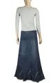 comfort waist denim skirt lifestyle