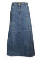 Stone Wash Ladies Denim Full Skirt