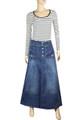 long denim skirt womens full length