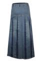 Full-length denim skirt