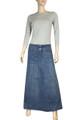 girls pleated denim skirt uk