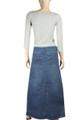 Blue Denim Skirt plus size