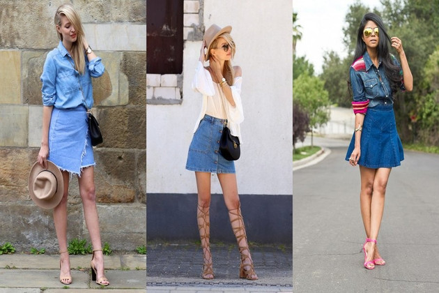 "Stay Ahead of the Fashion Curve with ""A Line"" Denim Skirt"
