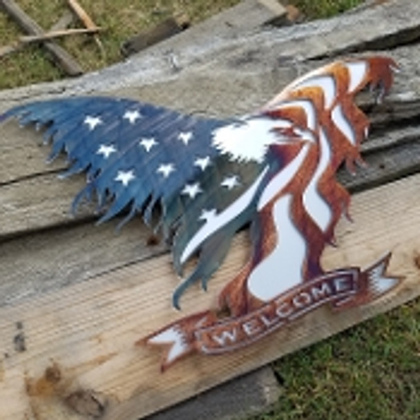 """15"""" Eagle Welcome Sign"""