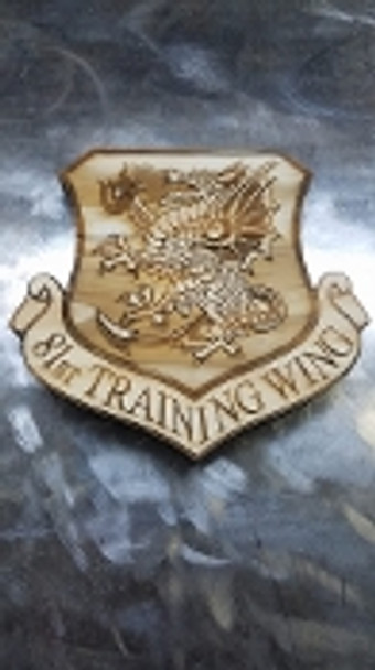 "7"" Wood 81st Training Wing Logo"