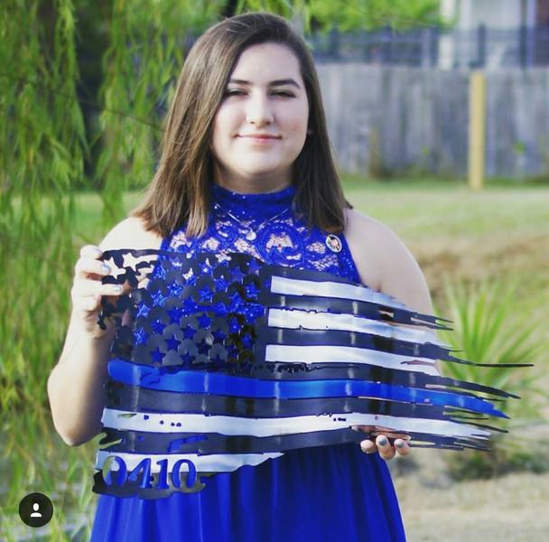 """24"""" x 14"""" Battle Worn Flag"""