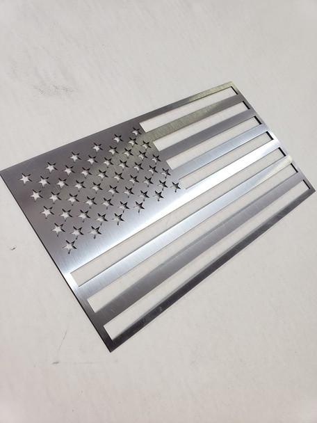 "8"" x 4.5"" Stainless Steel USA Flag"