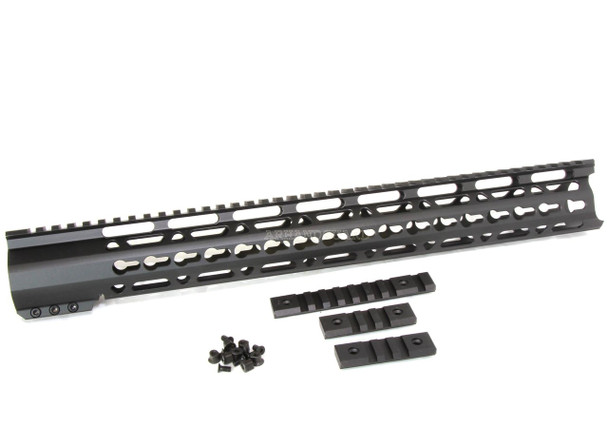 "16.5"" ULTRA-LIGHT Super Slim Keymod Handguard Free Float AR10 308 - Clamp on style"