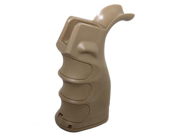Ergonomic Pistol Grip w/Finger Grooves Storage Compartment TAN AR15 223 5.56 (GP2)