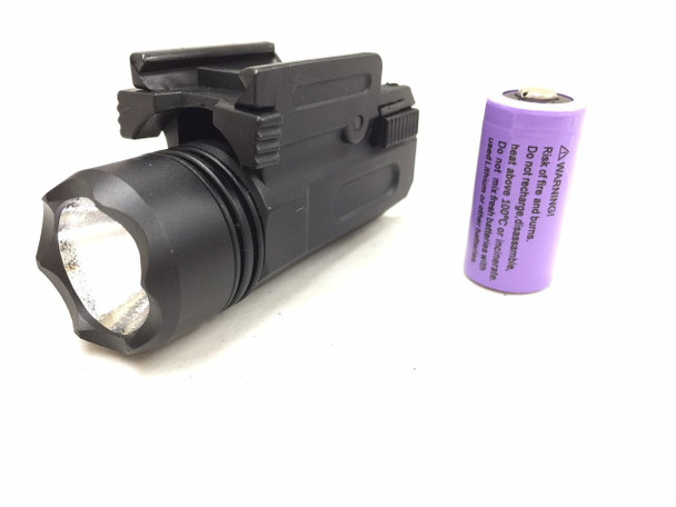 Pistol LED Flashlight 200 Lumens with Quick Release Mount- Polymer