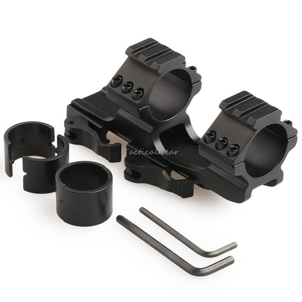 """Tactical Quick release QD 30mm/ 1"""" insert One Piece Cantilever Scope Mount Top Rail - Black"""