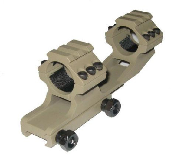 """Tactical 1"""" insert One Piece Cantilever Scope Mount Top Rail - TAN"""