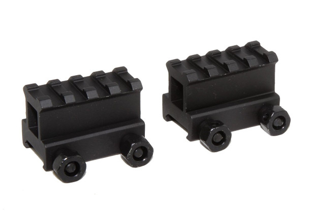 "2x 1"" RISER 4-Slot High Riser WEAVER PICATINNY Scope Mount Rail AR15 223 5.56"