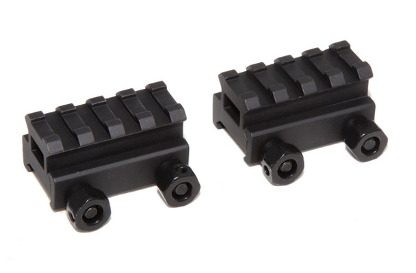 "2X - 3/4"" RISER 4-Slot Low Riser WEAVER PICATINNY Scope Mount Rail AR15 223 5.56"
