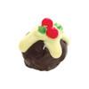 Fruity & alcoholic Christmas Truffle in dark chocolate