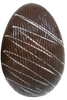 Hollow dark chocolate art egg 105mm high $9.90