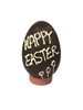 "Hollow dark chocolate ""Happy Easter"" egg 105mm high $9.90"