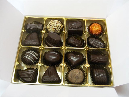 White gift box - 16 assorted Dark chocolates $34.50