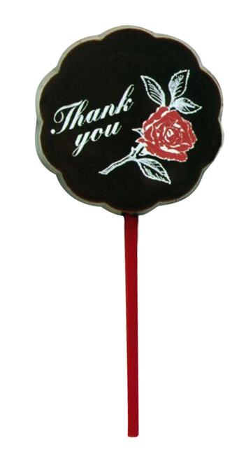 "Lollipop milk chocolate - ""Thank you"" $4.00"