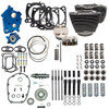S&S Cycle Big Bore Kit Power Package 124 inch CI Water Cooled with Highlighted Fins and Gear Drive Cam for 107 inch Harley-Davidson M8 - Chrome pushrod tubes