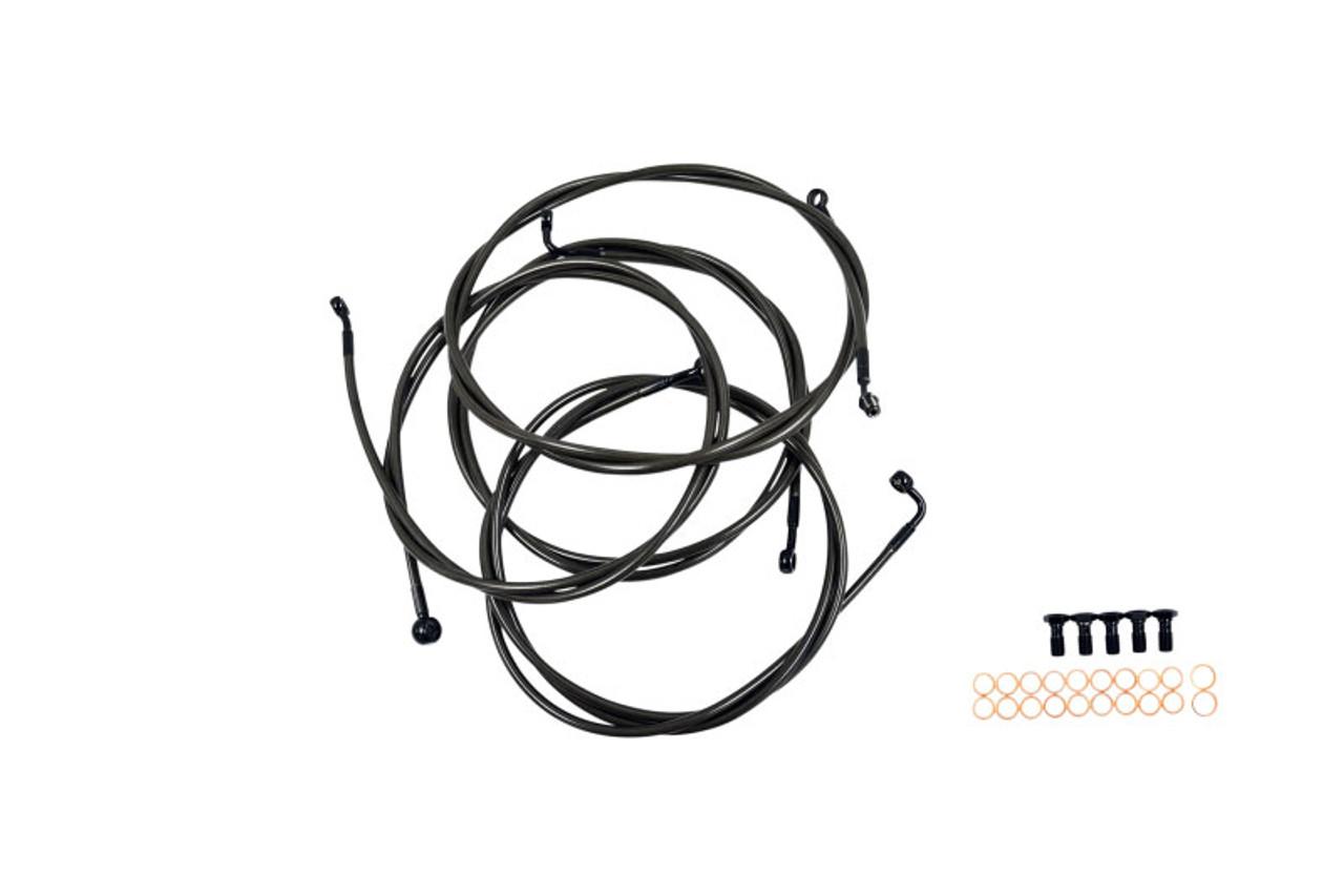 LA Choppers Standard Midnight Handlebar Cable/ Brake Line Kits for ...