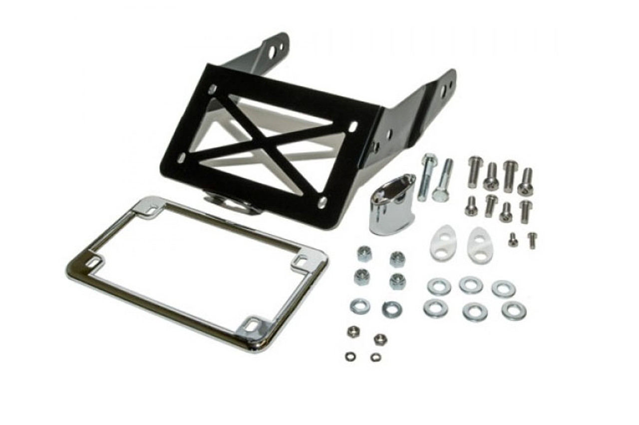 Easy Brackets Turn Signal/License Plate Relocation Kit w/ Lighted ...