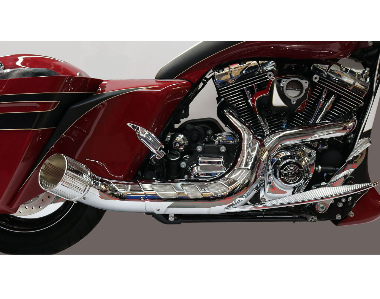 2 into 1 Exhaust for Harley Davidson Touring