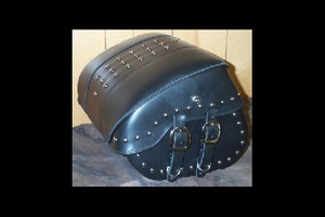 Leather Pros Trunk Bag -Large, Studded