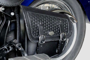 Boss Bags  Swingarm Bag #9D for Softails Basket Weave