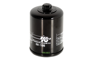 *CLEARANCE* K & N Performance  Oil Filter Black KN-198 for Victory Models Each (Click for fitment)