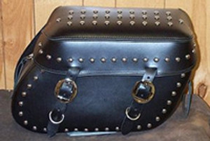Leather Pro 3000 Series Leather Saddlebags for Sportster XL '94-Up  -Studded