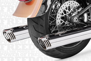 Freedom Performance  3¼ inch Racing Slip Ons for '07-17 FLSTF/FXSTD-Chrome