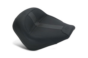 Mustang Seats Vintage Solo Black Vinyl with Black Leather Inserts  for '15-Up  Indian Scout