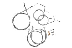 "Baron Stainless Handlebar Cable & Line Kit for Road Star 1600  '99-03 -15""-17"" Bars"