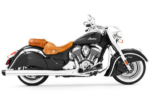 Freedom Performance Liberty 4 inch Slip-On Exhaust  for '14-Up Chieftain, Springfield & Roadmaster  Chrome w/Chrome Tip (Shown with black tip)