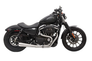 Bassani  Road Rage III 2-into-1 Exhaust  for '04-16 Sportster Models  -Stainless Steel