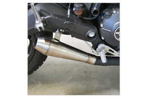 New Rage Cycles Performance Slip On Muffler for 15-Up Ducati Scrambler Stainless Steel